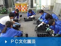 中学校PC文化園芸