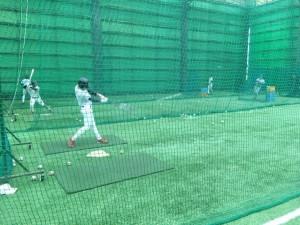 JR東海室内練習場にて打撃練習